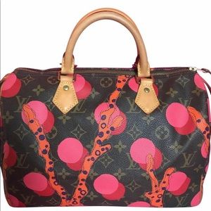 Louis Vuitton Speedy 30 Ramages Grenade Coral Bag